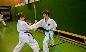 Aus dem Training - Kumite - Lars und Lina